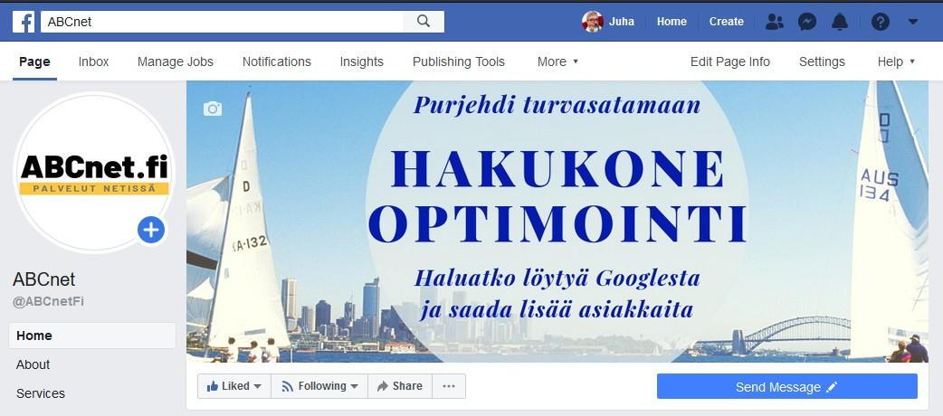 ABCnet Oy Facebookissa